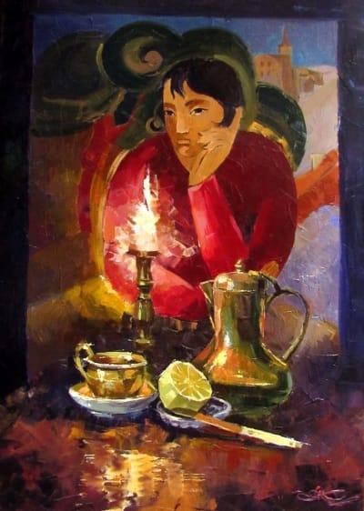 Картина маслом «Натюрморт с лимоном» - живопись для современных интерьеров Украина