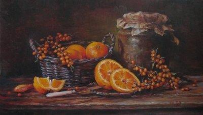 Картина «Натюрморт с апельсином»