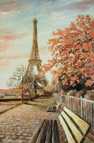 Картина «Небо над Парижем»
