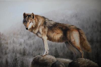 Картина «Одинокий вожак» ПРОДАНО