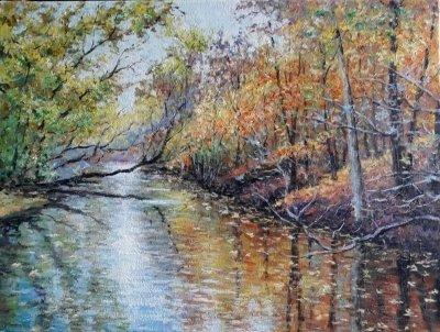 Картина маслом пейзаж «Осень» купить современную живопись Киев