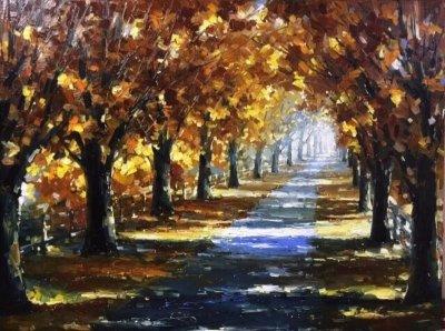 Картина осенний пейзаж «Осень» купить живопись для современных интерьеров Украина