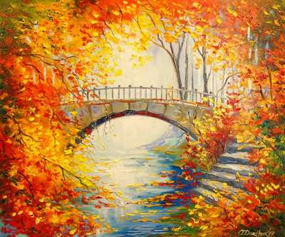 Картина «Осень в парке»