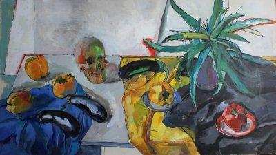 Картина для современных интерьеров натюрморт «Овощи» купить живопись Киев