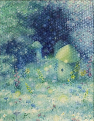 Картина детям сказочный пейзаж «Пасека» купить живопись для детской комнаты Киев