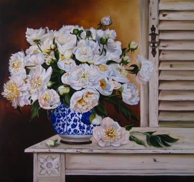 Картина цветы «Пионы. Прованс» купить живопись для современных интерьеров Украина