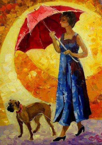 Картина «Под зонтиком»
