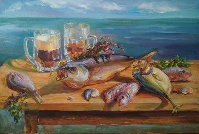 Картина «Праздник казака» - живопись для современных интерьеров Украина - живопись натюрморт