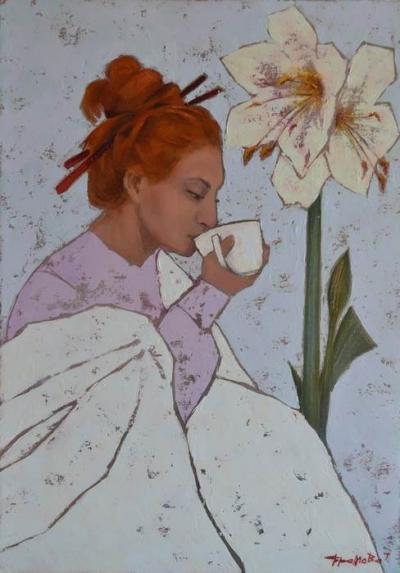 Картина «Пробуждение» купить живопись для современных интерьеров Украина