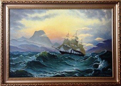 Картина «Рассвет на море»