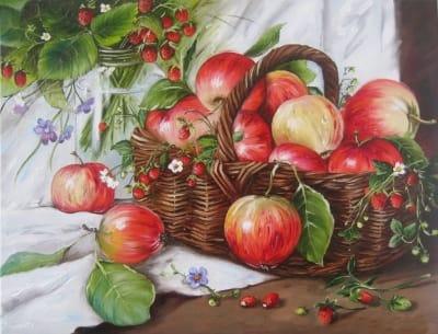 Картина «Яблоки и земляника»