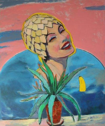 Картина для современных интерьеров «Самоизоляция» из серии Калифорния купить живопись Киев