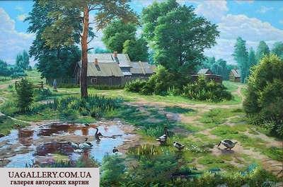 Картина Сельский пейзаж