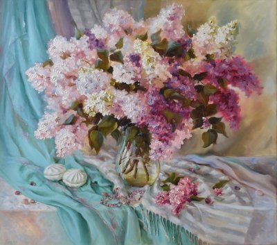 Картина цветы «Сладкие моменты» купить живопись для современных интерьеров Украина