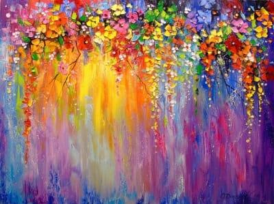 Картина маслом «Симфония цветов» - картины для современных интерьеров Украина