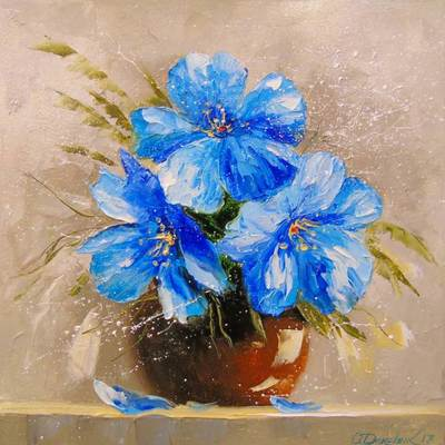 Картина «Синие цветы»