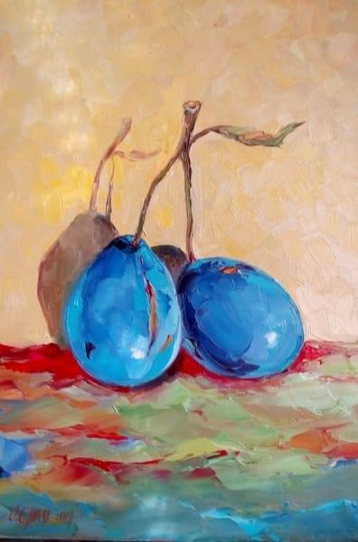 Картина натюрморт «Сливы» купить живопись для современных интерьеров Украина