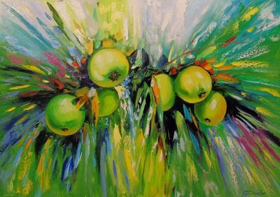 Картина «Сочные яблоки»