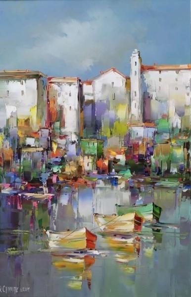 Картина маслом пейзаж «Солнечный день» купить живопись Киев