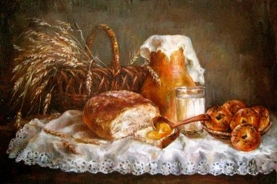 Картина «Теплый завтрак» купить живопись для современных интерьеров Киев