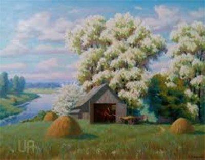 Картина «Цветущие акации»
