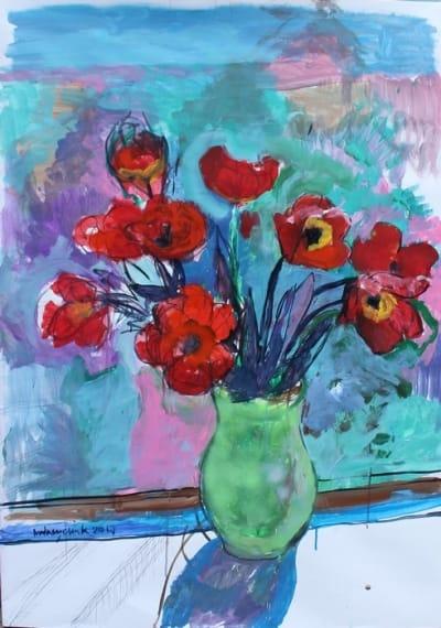 Картина для современных интерьеров цветы «Тюльпаны» купить живопись Украина