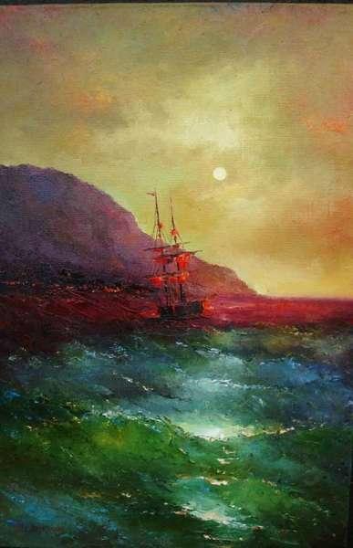 Картина «Вечернее море»