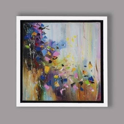 Картина живопись маслом абстракция «Весенняя мелодия» купить живопись для современных интерьеров Украина