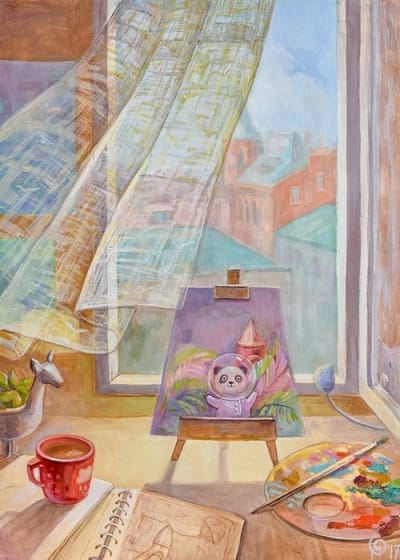 Картина для детской комнаты «Весенний ветер города» купить картину маслом Киев