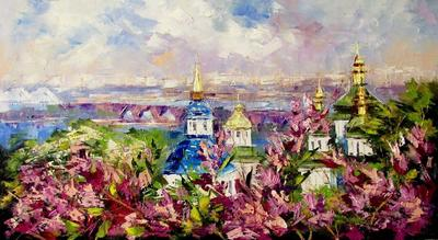 Картина «Весна в Ботаническом саду»