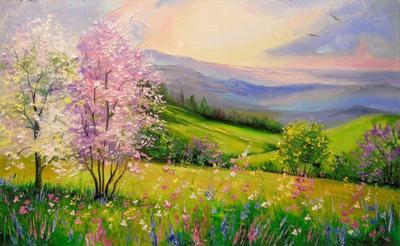 Картина «Весна в горах»