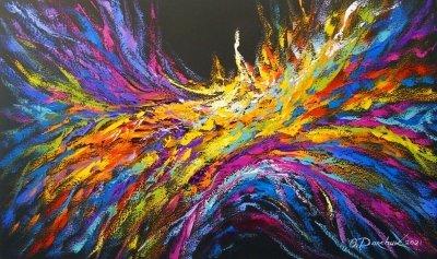 Абстрактная картина «Волна энергии» купить живопись для современных интерьеров Украина