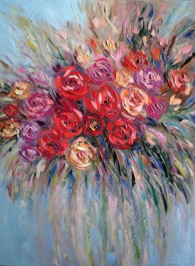 Картина «Яркие розы»