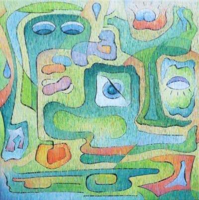 Картина «Задумчивость кактуса»