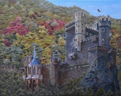 Картина «Замок на Рейне»