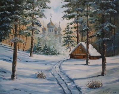 Картина «Зима. Рассвет»
