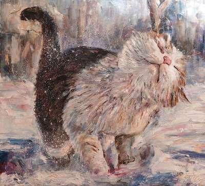 Картина «Зимняя прогулка»