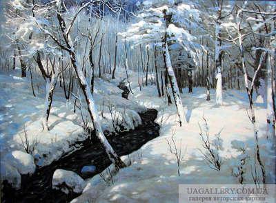 Картина Зимний пейзаж