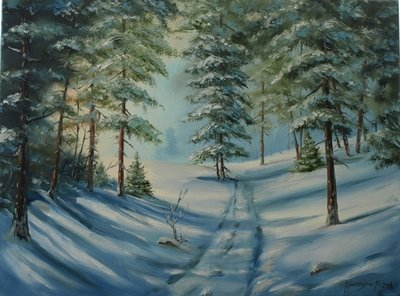 Картина «Зимний лес»