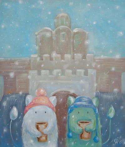 Картина для детской комнаты «Золотые Ворота. Снег» купить картину маслом Киев
