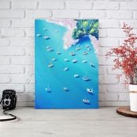 Картина маслом море «Яхты» купить живопись для современных интерьеров Киев