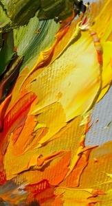 Картина маслом цветы «Подсолнухи» живопись для современных интерьеров