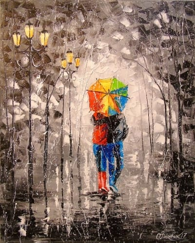 Картина «Яркая прогулка»