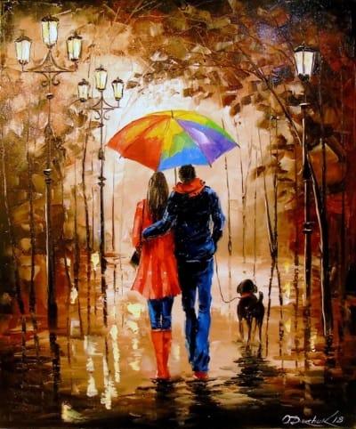 Картина «Яркая прогулка с другом»