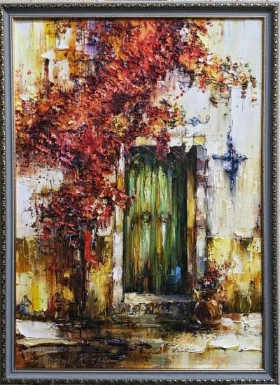 Картина пейзаж «Яркое начало» живопись для современных интерьеров Киев