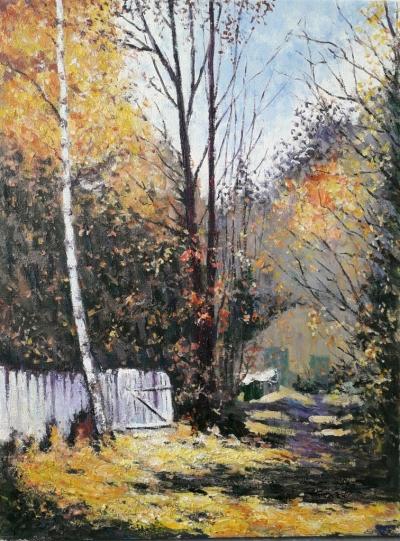 Картина маслом пейзаж «Ясный день» купить современную живопись Украина