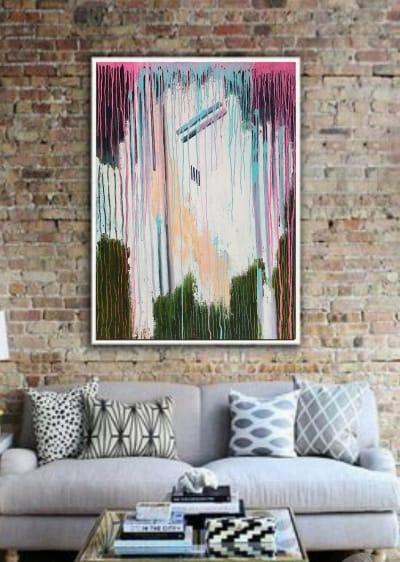 Картины абстракции маслом «Твои мысли струятся по моему телу» живопись для современного интерьера
