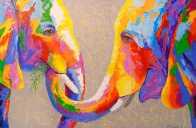 Картина «Забота слонов»