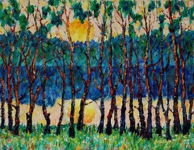 Картина «Заход солнца»