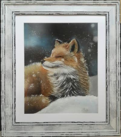 Картина «Заснеженный лис»